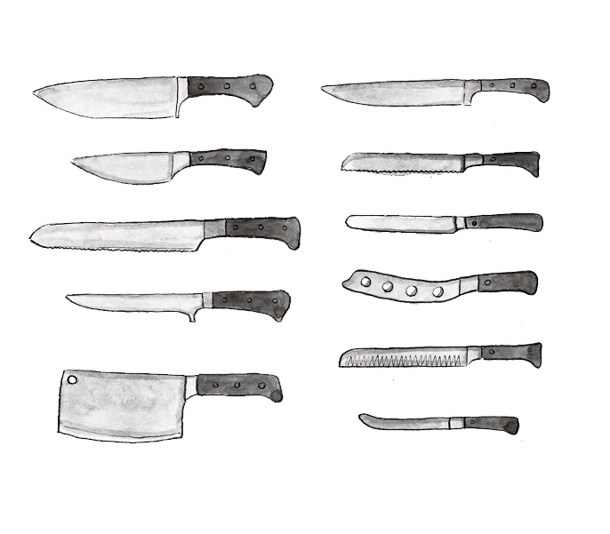 Types Of Knives Kitchen: Choosing The Right Knife