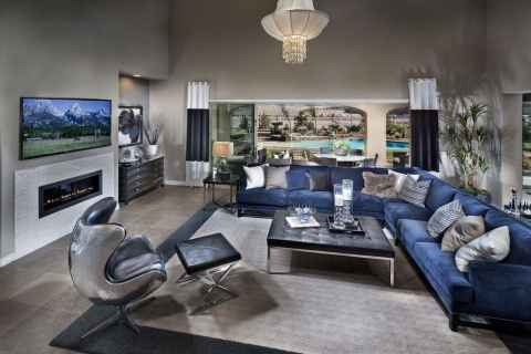 Navy Living Room Decor Ideas Picture