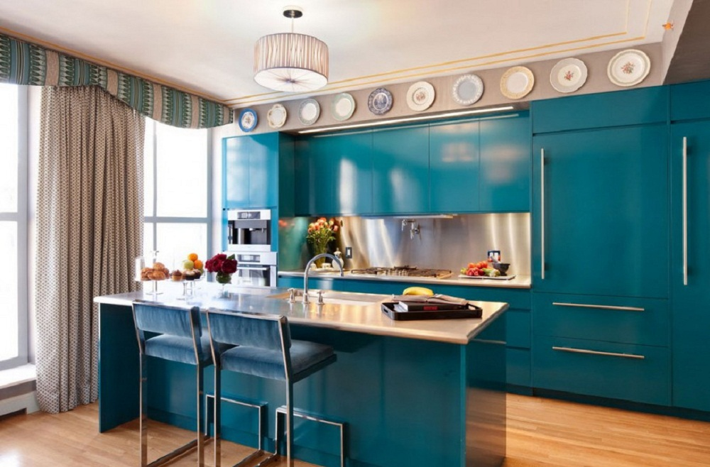 Image of turquoise and purple kitchen decor. turquoise kitchen ...