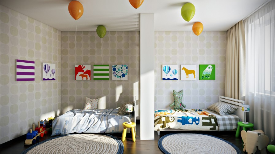 How To Decorate A Shared Children S Room