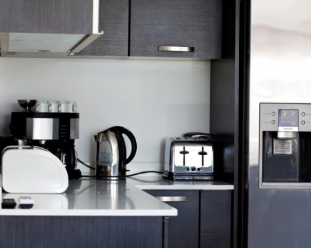 Save Space in the Kitchen by Cleverly Organizing the Small Appliances Picture