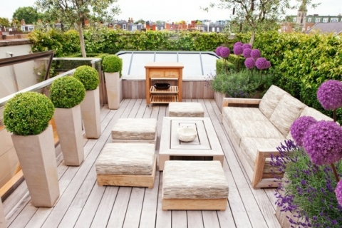 Smart ideas to decorate a rooftop garden